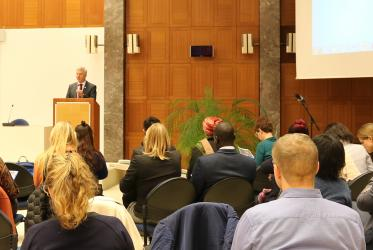"""Stop Human Rights Abuse!"" event at the Ecumenical Centre. Photo: WCC"
