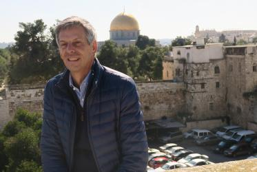 Fernando Enns in Jerusalem © WCC/Peter Kenny