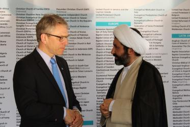 Rev. Dr Olav Fykse Tveit, general secretary of the WCC and Dr Mohammed Shomali, head of the Shia Muslim seminary in the United Kingdom. ©Xanthi Morfi/WCC