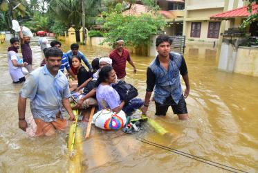 Rescue team near Kuttoor village in Kerala, the Southern state of India. Photo: Church of South India Synod News