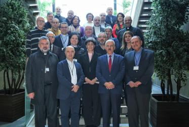 Participants of the meeting convened by the Middle East Council of Churches in Lebanon. All photos: MECC