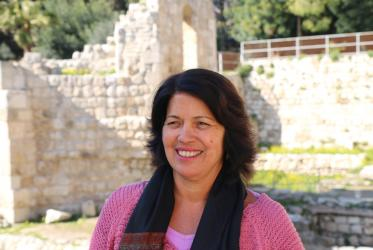 Magali do Nascimento Cunha at the Bethesda excavations next to St Anne's church in Jerusalem. © Peter Kenny / WCC