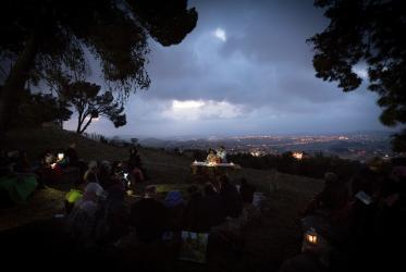 Easter Sunrise service on the Mount of Olives in Jerusalem, 2019. Photo: Albin Hillert/WCC