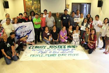 A consultation in the Philippines served as a forum for voices of people severely impacted by climate change. © Jonathan Sta. Rosa/NCCP