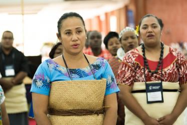 Adi Mariana Waqa, the CWME keynote speaker on the theme of mission from the margins. Photo: Albin Hillert/WCC