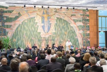 Pope Francis visits WCC, 2018. Photo: Albin Hillert/WCC