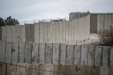 Separation wall, Jerusalem. Photo: Albin Hillert/LWF