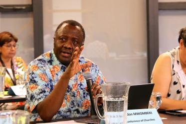 Rev. Fidon Mwombeki, general secretary of the All Africa Conference of Churches (AACC). Photo: Marcelo Schneider/WCC
