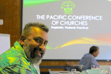 Rev. James Bhagwan, general secretary of the Pacific Conference of Churches. Photo: Marcelo Schneider/WCC