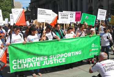 Churches take a stand for climate justice in New York, September 2019. Photo: Marcelo Schneider/WCC