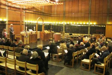 A service at the Ecumenical Centre in Geneva celebrated the Week of Prayer for Christian Unity on 21 January. Rev. Emmanuel Fuchs, president of the Protestant Church of Geneva, preached.