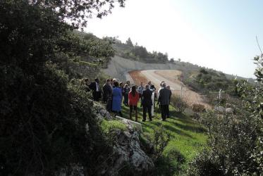 WCC leadership on pilgrimage to Cremisan Valley in March 2015. © Marianne Ejdersten/WCC
