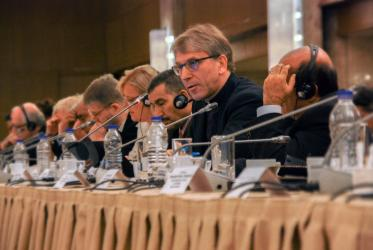 The WCC general secretary at the Middle East conference in Athens. © WCC/Nikos Kosmidis