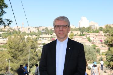 "Rev. Dr Olav Fykse Tveit, general secretary of the World Council of Churches, stressed ""this is about the Holy land and holy places of three religions. Jerusalem must be a shared one."" Photo: Marianne Ejdersten/WCC"
