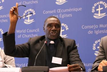 Fr James Oyet-Latansio, general secretary of the Christian Council in South Sudan. Photo: Ivars Kupcis/WCC