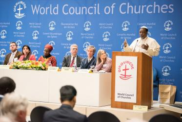 Panel discussion on Christianity and human rights in multi-faith Nigeria, Geneva, 29 January 2018. Photo: Albin Hillert/WCC