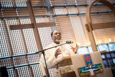 Primate Ositelu visited Geneva and the WCC on 29-30 January. Photo: Albin Hillert/WCC