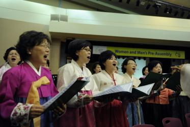 Opening worship and celebrations at the women and men's pre-assembly