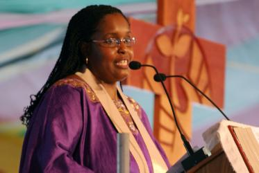 Rev. Robina Marie Winbush preaches during the closing prayer service of the WCC 9th Assembly in Porto Alegre, Brazil. Photo: Paulino Menezes/WCC