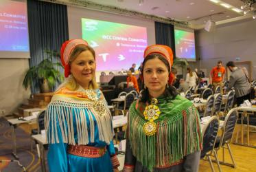 Sami representatives at WCC Central Committee meeting. © Marcelo Schneider/WCC