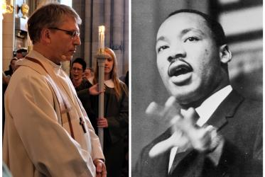 Left: Rev. Dr Olav Fykse Tveit. Photo: Mikael Stjernberg /Christian Council of Sweden; Right: Dr Martin Luther King Jr. Photo: WCC