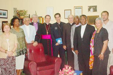 Bishop Rolf Koppe (4th from left) in 2005 with Cuban church leaders and the WCC delegation headed by the then WCC general secretary Samuel Kobia. Photo: WCC/José Aurelio Paz