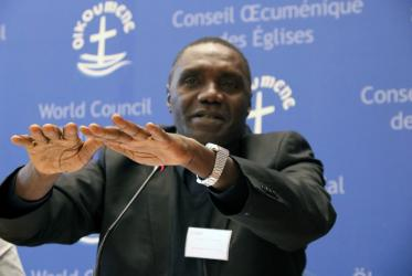 Fr James Oyet Latansio, the general secretary of the South Sudan Council of Churches. Photo: Ivars Kupcis/WCC