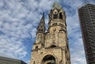 Kaiser Wilhelm Memorial Church in Berlin will ring its bells on Sunday for Remembrance 100. Photo: Ivars Kupcis/WCC