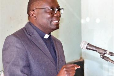 Rev. Canon Fr Emmanuel Yona Chikoya General Secretary of The Council of Churches in Zambia (CCZ). Photo: CCZ
