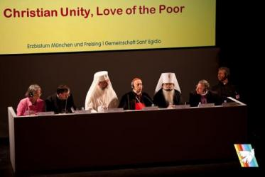 "Panel on ""Christian Unity, Love of the Poor"" © Community of Sant'Egidio"