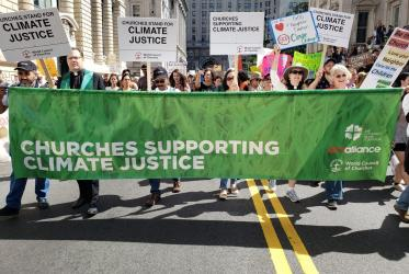 Churches are calling for immediate action on the climate justice on the eve of the UN Climate Action Summit in New York. Photo: Joanna Patouris/ACT