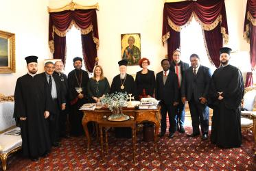 WCC working group during the official hearing from the Ecumenical Patriarch Bartholomew, Fener, Istanbul, 16 February 2020, Photo: Nikolaos Manginas/Ecumenical Patriarchate